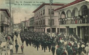 ecuador, GUAYAQUIL, Funeral of Dr. A. Lascano (1908)