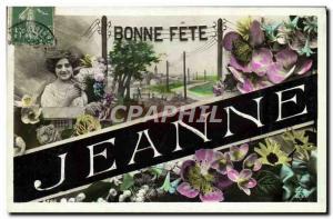 Old Postcard Fancy Jeanne Surname