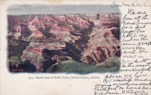 Arizona Grand Canyon North From O'Neill's Point 1907