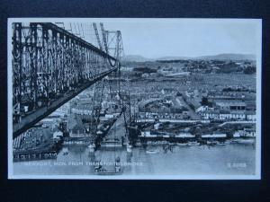 Wales Monmouth NEWPORT FROM THE TRANSPORTER BRIDGE c1934 Postcard by Valentine