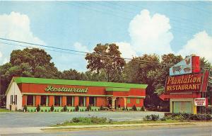 Valdosta GA Plantation Drive-In Restaurant on US 41 Postcard