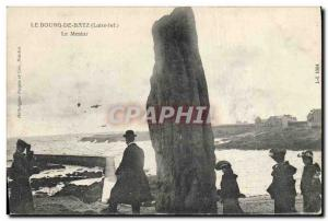 Old Postcard Dolmen Menhir Le Bourg de Batz The menhir