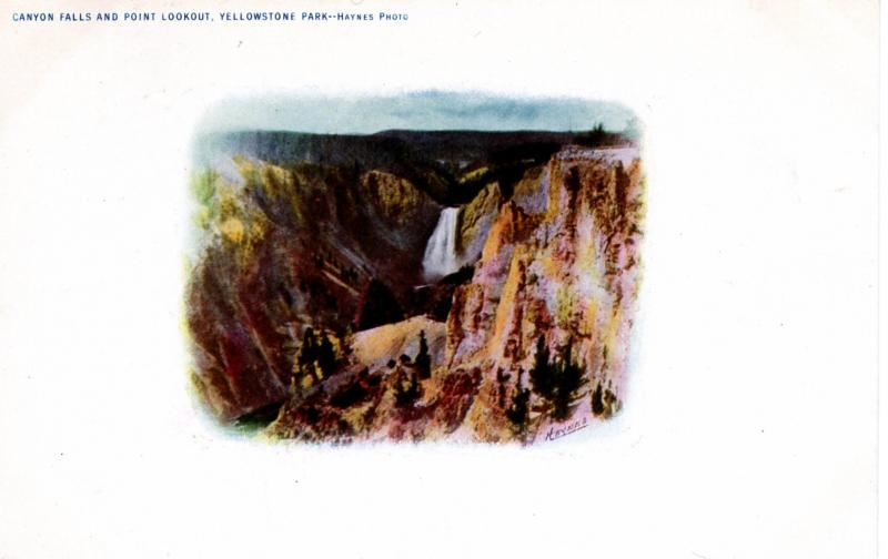 Canyon Falls and Point Lookout, Yellowstone National Park, 1904-07