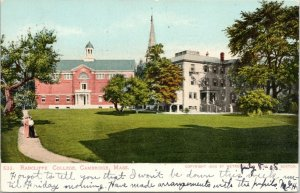Cambridge Massachusetts~Victorian Ladies on Radcliffe College Path~Campus~1908