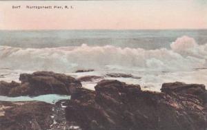 Rhode Island Narragansett Pier Surf  Albertype