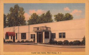 Crystal Lake Casino, West Orange, New Jersey, Early Postcard, Unused