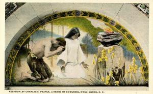 DC - Washington. Library of Congress Mural. Religion