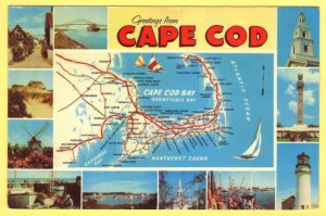 MAP OF BOSTON,SOUTH SHORE,PLYMOUTH AND CAPE COD, MASSACHISETTS   SEE SCAN  130