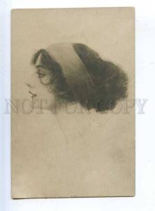 202379 Portrait BELLE Woman HARRISON FISHER Vintage PHOTO PC