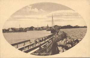 denmark, DRAGØR, Havnemole, Harbour (1910s)