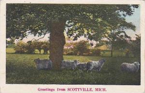 Michigan Scottville Greetings From Scottville 1931