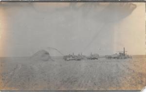 F13/ Occupational RPPC Postcard c1910 Threshing Crop Farm 11