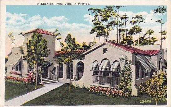 Florida West Palm Beach A Spanish Type Villa In Florida