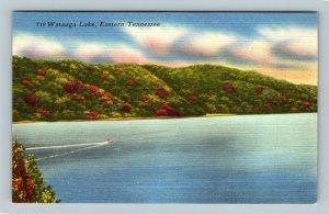 Watauga Lake TN, Eastern TN, Linen Tennessee Postcard