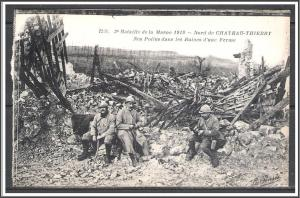 France, Aisne Battle of Chateau-Thierry WWI Second Battle of The Marne