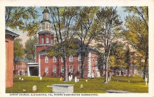 Alexandria Virginia~Christ Church Where Washington Worshipped~1920 PC