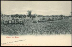 Germany Gruss Aus Kamerun Postcard PPC Native Army German Officers Camerou 85125