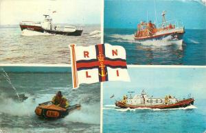 Lifeboats multi views postcard