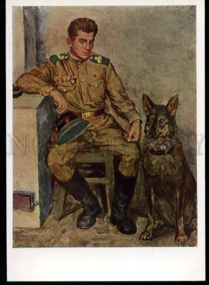 137134 Military shepherd dog RUSSIAN by PEREYASLAVETS old pc