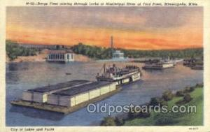 Barge Fleet Mississippi Ferry Boats, Ship, Ships, Postcard Post Cards  Minnea...