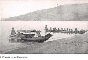 Indonesia, Republik Indonesia Prauwen op het Possomeer  Prauwen op het Possomeer