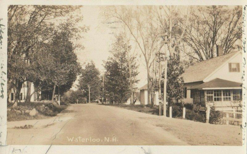 RP; WATERLOO , New Hampshire , 1930 ; Main Street