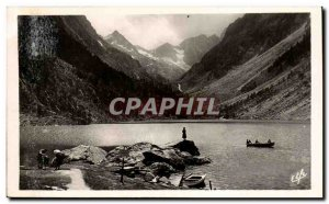 Old Postcard Cauterets the lake Gaube