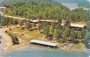 Edgemont Arkansas Lakefront Lodge Birdseye View Vintage Postcard K90902