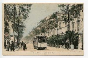 Nice Avenue de la Gare Trolley Street View Postcard