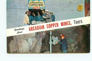 Postcard Michigan Handcock Air Drilling Machine Arcadian Copper Mine  # 2949A