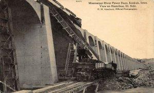 LP89  Keokuk  Iowa Postcard Mississippi Power Dam