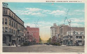HIGH POINT, North Carolina, PU-1929;  Main Street, Looking South