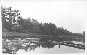 Imlay City Michigan~Lake Pleasant~Small Fishing Boats @ Dock~Vintage RPPC