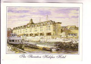 Artist Peter Bresnen, Watercolour The Sheraton Hotel, Halifax, Nova Scotia,