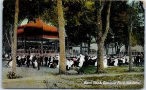 Montreal, Quebec Canada Postcard Band Stand, DOMINION PARK Concert Scene 1910s
