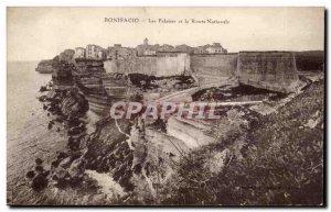 Old Postcard Corsica Corsica Bonifacio cliffs and the National Road