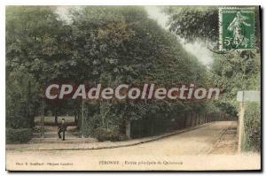 Old Postcard Peronne main entrance From Quincunx