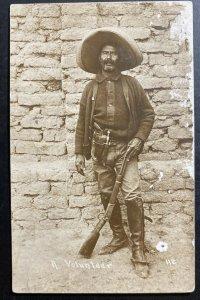 1914 El paso Texas RPPC Real Picture Postcard Cover Revolution Mexican volunteer