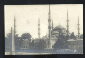 RPPC CONSTANTINOPLE TURKEY MOSQUEE SULTAN AHMED MOSQUE REAL PHOTO POSTCARD