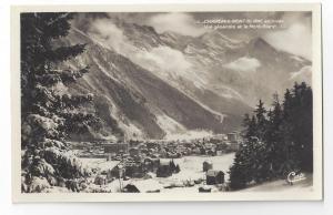 RPPC France Chamonix Mont Blanc en Hiver Alps CAP Real Photo
