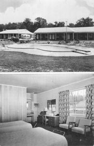 Raleigh North Carolina Fairfield Motor Court Multiview Vintage Postcard K54146