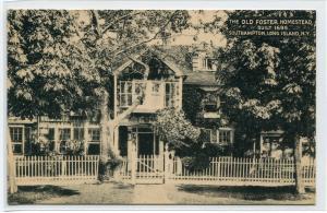 Old Foster Homestead Southampton Long Island New York postcard