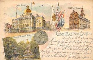 Greetings from Boston Boston, Mass., USA Postcard 1904