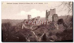 Postcard Ancient Ruins of Castle Crozant