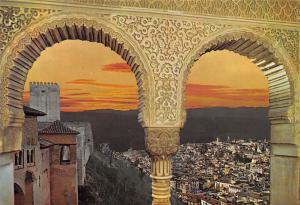 Spain Granada Alhambra Puesta de Sol Sunset General view
