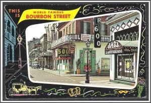 Louisiana, New Orleans Bourbon Street - [LA-012X]