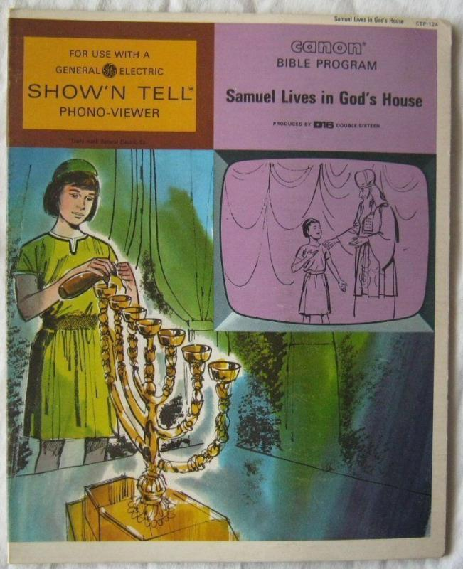Vintage Samuel Lives In Gods House Canon Bible Program For GE Show N Tell 1966