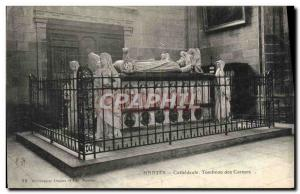 Old Postcard Nantes Cathedral Tomb of the Carmelites