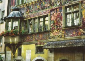 Switzerland, Suisse, Schaffhausen, Fresken am Haus zum Ritter, unused Postcard