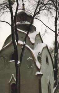 Novodevichy Convent, Winter Scene, MOSCOW, Russia, 40-60's